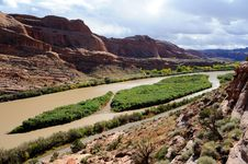 Free Moab Portal View Of Colorado River Stock Images - 17615634
