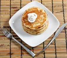 Free Pancakes For Breakfast Stock Image - 17615691