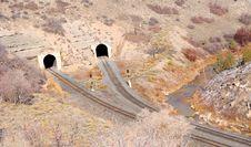 Free Dual Railroad Tunnels Stock Photo - 17616000