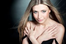 Beautiful Young Blond Sexy Girl Royalty Free Stock Photo