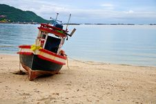 Free Fishing Boats In Thailand Royalty Free Stock Image - 17617856