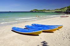 Free Kayaks On A Beach Stock Image - 17619371
