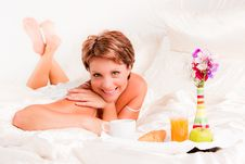 Free Breakfast In Bed Royalty Free Stock Image - 17619406