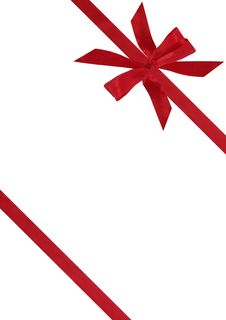 Free Red Ribbon From Bow Stock Photography - 17619432