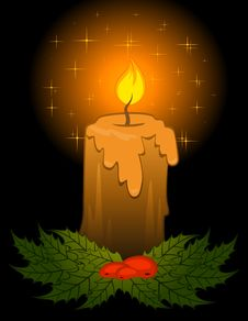 Free Burning Candle Stock Photos - 17619913