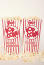 Free Fresh Popcorn In Two Boxes Stock Image - 17623771
