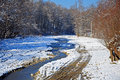 Free Snowy Muddy Trace Near Curved River Stock Image - 17627261