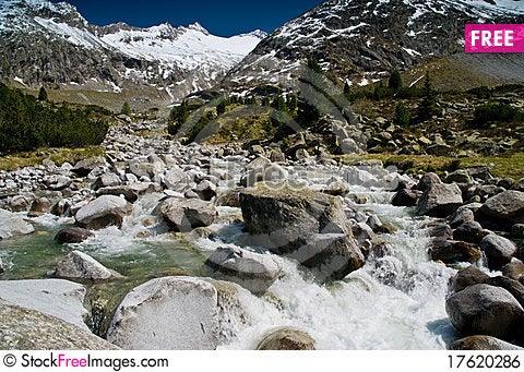 At Zemmground, Zillertaler Alps, Austria Stock Photo