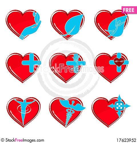 Happy hearts Stock Photo
