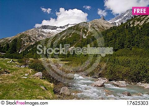 Pfitscher Joch, Zillertaler Alps, Austria Stock Photo