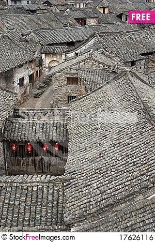 Ancient village in Guangdong,china. Stock Photo
