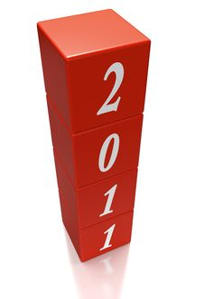 Free Cubes Or Dice Depicting The Year 2011 Royalty Free Stock Images - 17620569