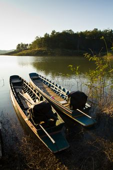 Free Boats On The Bank Stock Image - 17620901