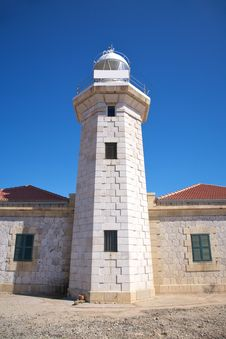 Punta Nati Lighthouse Royalty Free Stock Photography