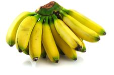 Organic Bananas Stock Photography