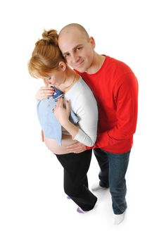 Young Couple Pregnancy Stock Photo
