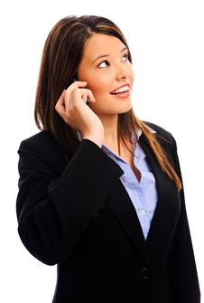 Free Businesswoman On A Call Royalty Free Stock Image - 17621906