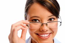 Free Close Up Of A Model With Glasses Stock Photo - 17622020