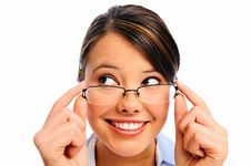 Free Close Up Of A Model With Glasses Stock Photos - 17622033