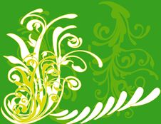 Free Abstract Flower Illustration Flower Spring Green Royalty Free Stock Images - 17623429