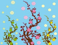 Abstract Flower Spring Illustration  Landsca Stock Photos