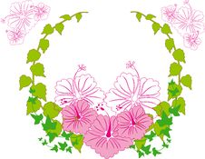 Free Wreath Flower Spring Illustration  Landsca Stock Image - 17623441