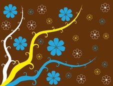 Wreath Flower Spring Illustration  Landsca Royalty Free Stock Image