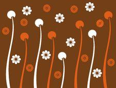 Retro Flower Spring Illustration  Landsca Royalty Free Stock Photos