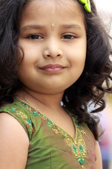 Portrait Of Cute Indian Girl Royalty Free Stock Photos