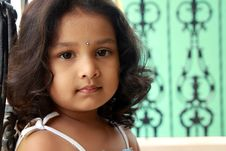 Free Portrait Of Cute Indian Girl Stock Photos - 17623493