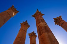Free Roman Columns In Jerash Royalty Free Stock Photo - 17623905