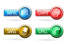 Free Communication Buttons Stock Photos - 17623953