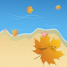 Free Autumn Card Royalty Free Stock Photos - 17623988