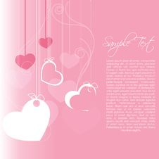 Free Valentine Card Royalty Free Stock Photos - 17624008