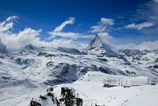 Matterhorn Landscape View Stock Photos