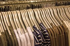 Free Shirts On Hangers Stock Images - 17626684