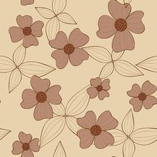 Free Seamless Floral Wallpaper Stock Photography - 17626822
