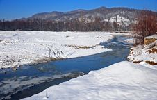 Free Transversing River In Winter Day Stock Photography - 17626902