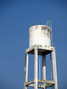 Free Old Water Tank With Blue Sky Stock Photo - 17626970