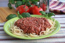 Free Spaghetti Bolognese Stock Photo - 17627380
