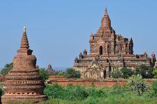 Myanmar: Bagan Temples Stock Image