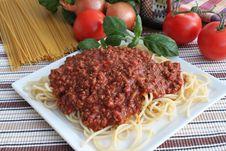 Free Spaghetti Bolognese Stock Image - 17627491