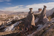 The Rock Castle At Cappadocia Royalty Free Stock Images