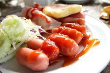 Free Sausages Ham Stock Image - 17627941