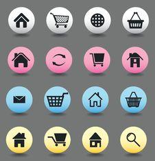 Free Button Internet Stock Image - 17627951