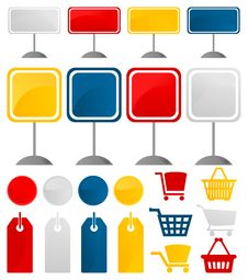 Icons Of Sales3 Royalty Free Stock Photo