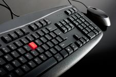 Free Close-up Of Black Keyboard With Mouse Stock Images - 17628244