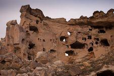 The Rock Castle At Cappadocia Royalty Free Stock Photography