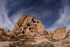 The Rock Castle At Cappadocia Royalty Free Stock Image