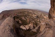 The Rock Castle At Cappadocia Royalty Free Stock Photos